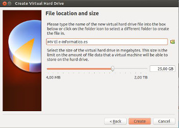 virtualbox crear disco duro virtual Ubuntu