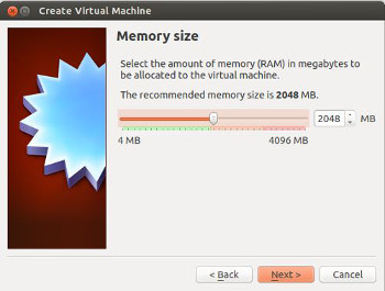 virtualbox crear maquina virtual ram