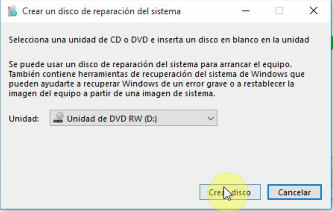 disco seguridad windows10