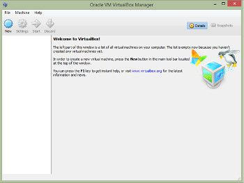 pantalla inicial virtualbox